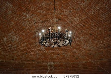 Interior Of An Old Castle In Sigulda.