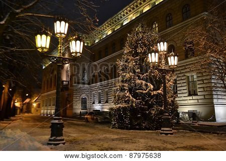Night Riga.