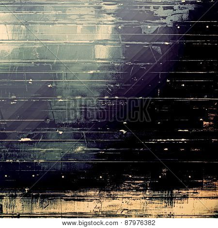 Abstract grunge textured background. With different color patterns: blue; yellow (beige); gray; black