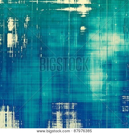 Old, grunge background texture. With different color patterns: blue; cyan; green