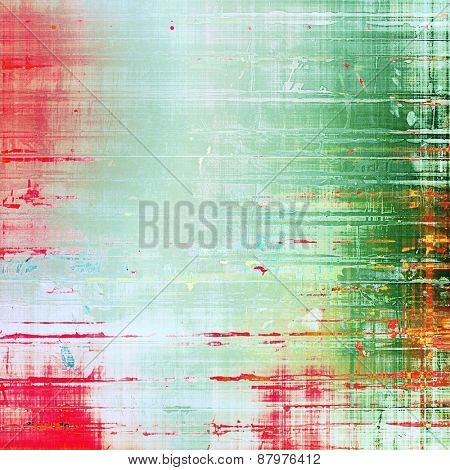 Old abstract grunge background for creative designed textures. With different color patterns: cyan; gray; green; pink