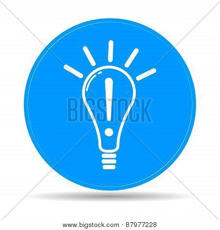 Creative Idea In Bulb Shape As Inspiration Concept Icon.