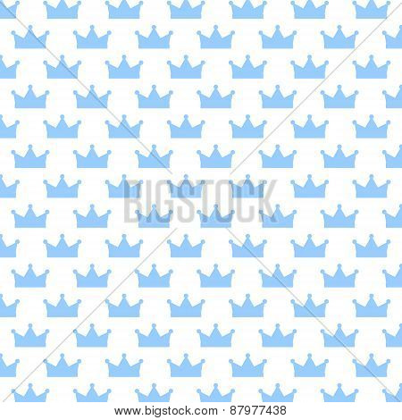 With Background Blue Crowns. Seamless Texture-abstract Background.