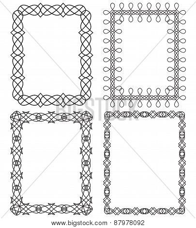 4 Rectangular Geometric Frames