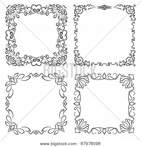 4 Decorative Black Frames