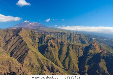 Pico Del Teide With Teno Mountains, Tenerife, Spain