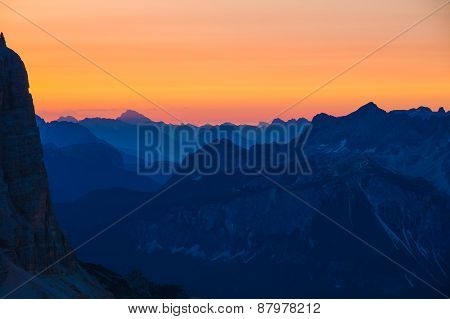 Beautiful Sunrise In Dolomites, Italy - Awakening New Day