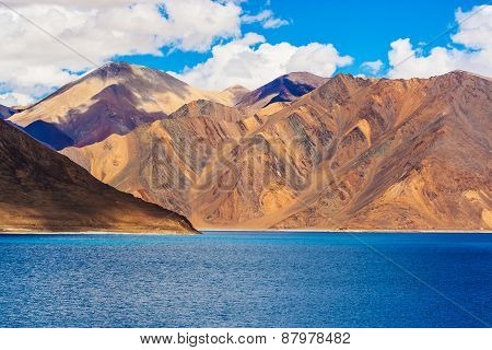 Pangong Tso, Beautiful Himalayan Lake, Ladakh, Northern India