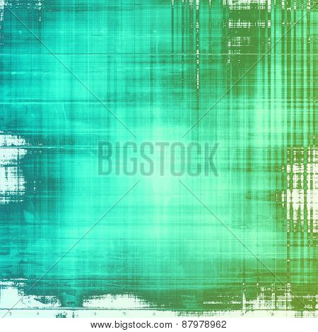 Old grunge background with delicate abstract texture and different color patterns: blue; cyan; green