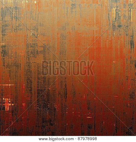 Beautiful vintage background. With different color patterns: red (orange); brown; black