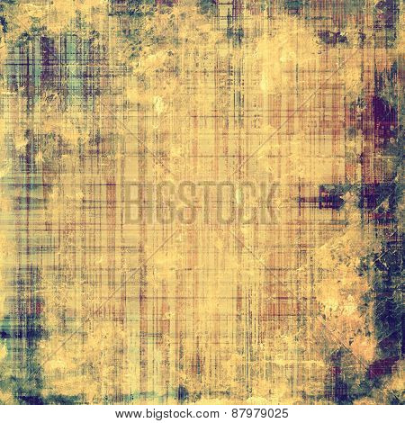 Old, grunge background texture. With different color patterns: purple (violet); blue; yellow (beige); brown