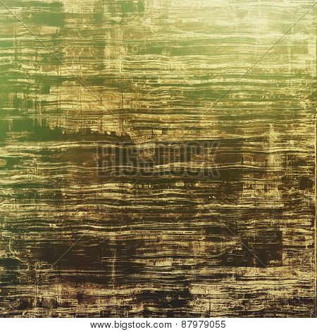 Grunge texture, may be used as retro-style background. With different color patterns: yellow (beige); brown; green