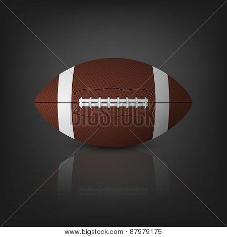 Football Ball. Vector Eps10 Illustration.