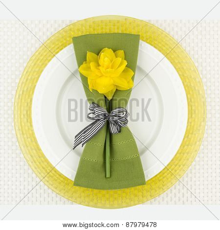Green And Yellow Place Setting