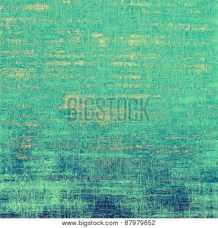 Grunge texture or background with space for text. With different color patterns: blue; cyan; green