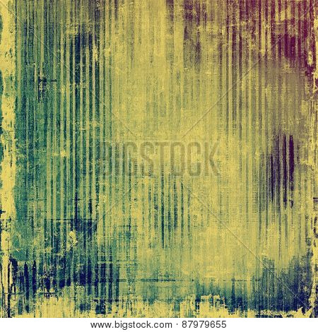 Vintage texture with space for text or image. With different color patterns: purple (violet); blue; yellow (beige); cyan