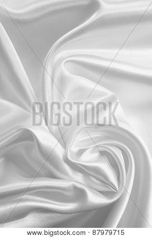 Smooth Elegant White Silk Or Satin As Wedding Background