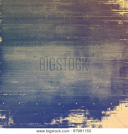 Old grunge background with delicate abstract texture and different color patterns: purple (violet); blue; yellow (beige); gray