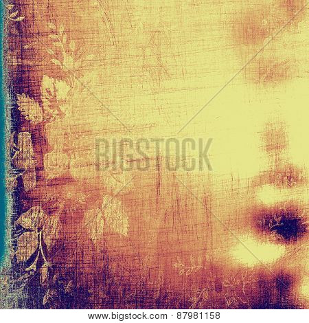 Colorful vintage texture. With different color patterns: purple (violet); blue; yellow (beige)