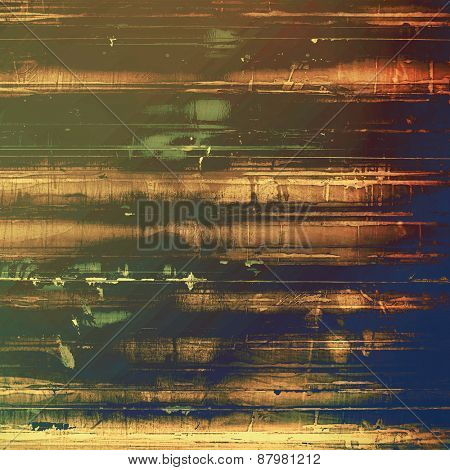 Ancient grunge background texture. With different color patterns: blue; yellow (beige); brown; green