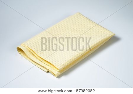 creamy tablecloth on white background