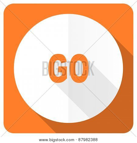 go orange flat icon