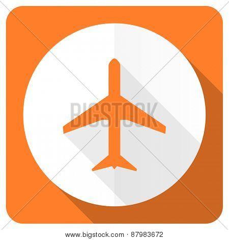 plane orange flat icon airport sign