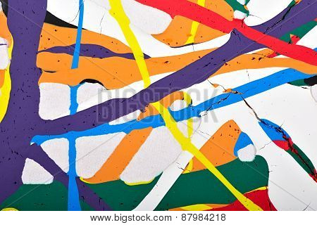 Abstract acrylic modern painting fragment