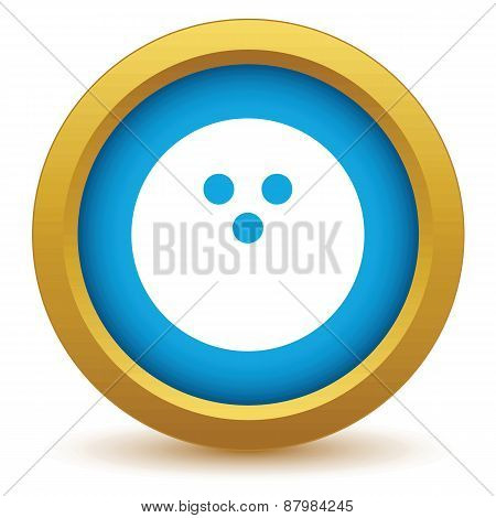 Gold bowling icon