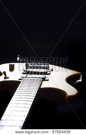 Sexy electric guitar natural wood