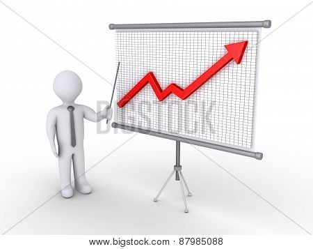Businessman Presenting Growing Graph