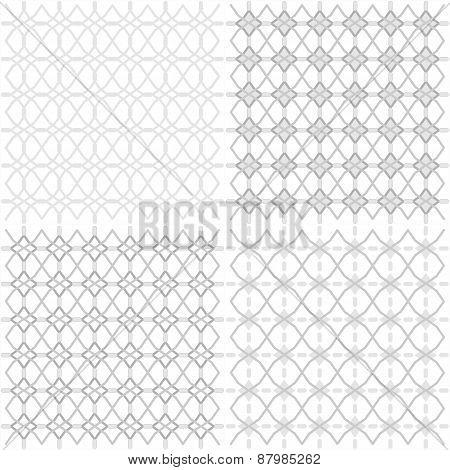 Seamless Geometric Openwork Pattern - Illustration