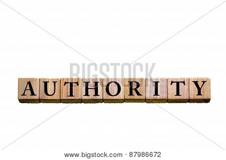 Word Authority Isolated On White Background