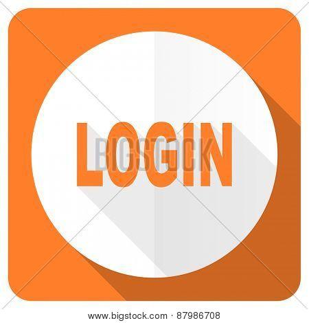 login orange flat icon