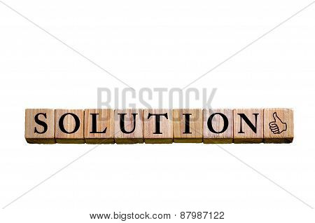 Word Solution Isolated On White Background