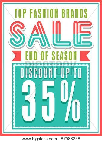 Top Fashion Brands Sale with discount offer, can be used as poster, banner or flyer design.