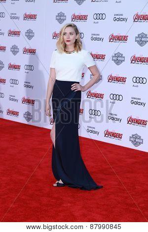 LOS ANGELES - FEB 13:  Elizabeth Olsen at the