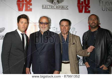 LOS ANGELES - FEB 13:  Rene's son, Rene Garcia, Andy Garcia, Alex Pirez at the