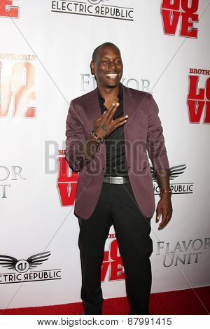 LOS ANGELES - FEB 13:  Tyrese Gibson at the