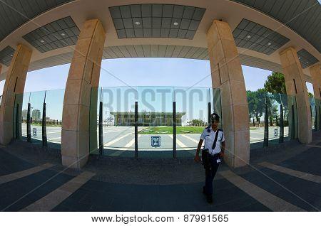 Entrance To The Knesset, Jerusalem