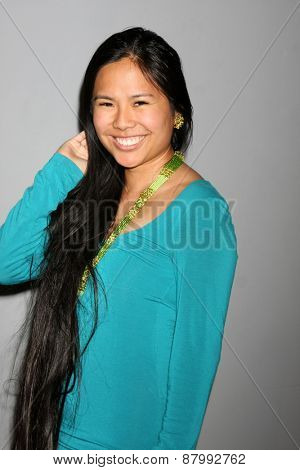 LOS ANGELES - FEB 11:  Krista Suh at the Hollywood Red Carpet School at the Shari Shaw Studio on April 11, 2015 in Studio City, CA