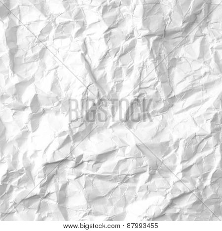 White crumpled paper closeup
