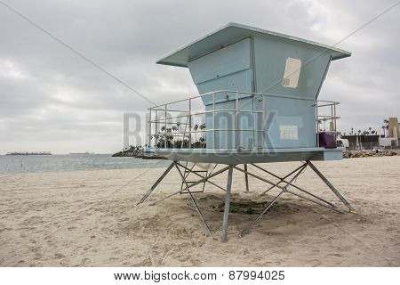Lifeguard Stand In Long Beach Horizontal