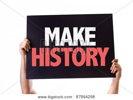 Make History card isolated on white