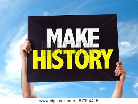 Make History card with sky background