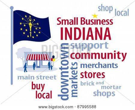 Indiana Flag, Small Business