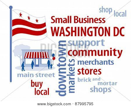 Washington DC Flag, Small Business