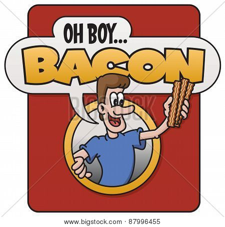Oh Boy, Bacon! vector design