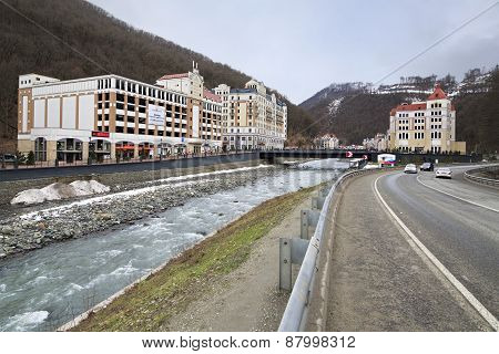 Valley in Rosa Khutor Alpine Resort