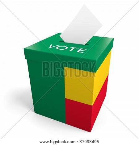 Benin election ballot box for collecting votes